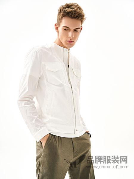 MOZI男装品牌2018春季新款纯色宽松休闲拉链长袖外套