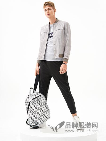 MOZI男装品牌2018春季新款棒球服修身纯色薄款休闲潮流外套男