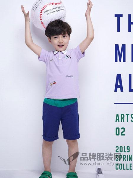 西萌叮童装品牌2019春夏t恤新款中童休闲卡通