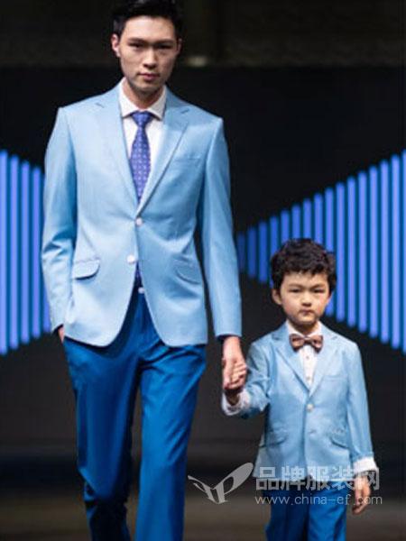 隆庆男装品牌2019春夏新款蓝色西服西装英伦风商务休闲时尚西服礼服