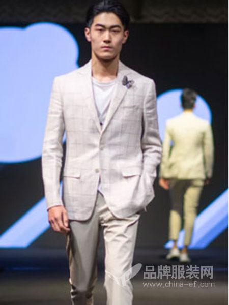 隆庆男装品牌2019春夏新款韩版男士休闲修身时尚西服套装