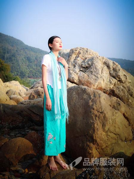 曼茜纱女装品牌2019春夏棉麻茶服中国风唐装套装女短袖两件套