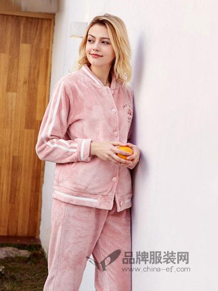 红豆居家内衣品牌法兰绒休闲加厚睡衣