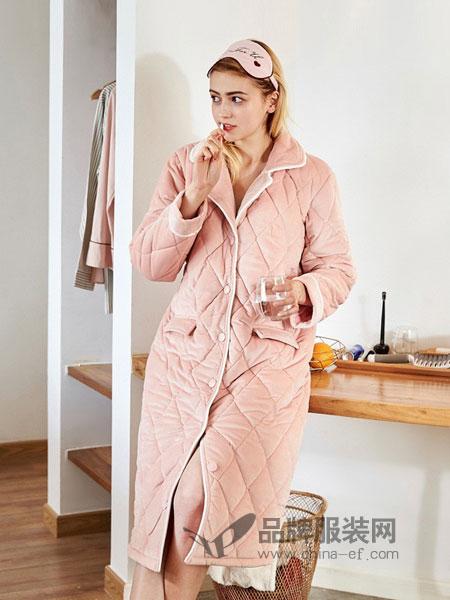 红豆居家内衣品牌夹棉三层加厚保暖套装