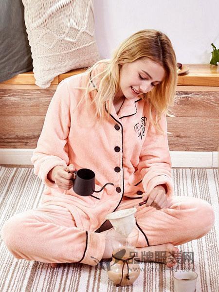 红豆居家内衣品牌长袖韩版加厚保暖家居服