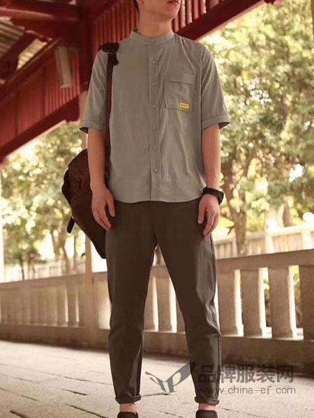 �h纹男装品牌2019春夏短新款短袖衬衫加大码上衣中老年宽松薄