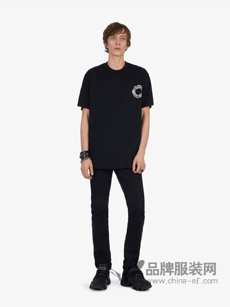 Givenchy纪梵希休闲品牌2019春夏新款圆领印花短袖休闲T恤宽松上衣