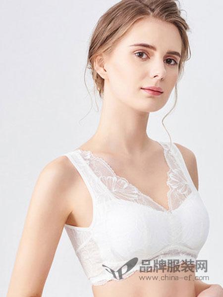 水中花内衣品牌2019春季新款美背内衣无钢圈性感蕾丝舒适透气少女文胸睡眠胸罩