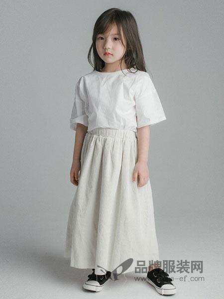 ENHENN CHILDREN'S CLOTHING童装品牌2019春夏 流行款刺绣棉质半身裙