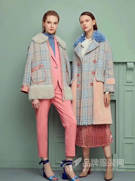 茉拉迪女装品牌新款宽松中长款长袖外套