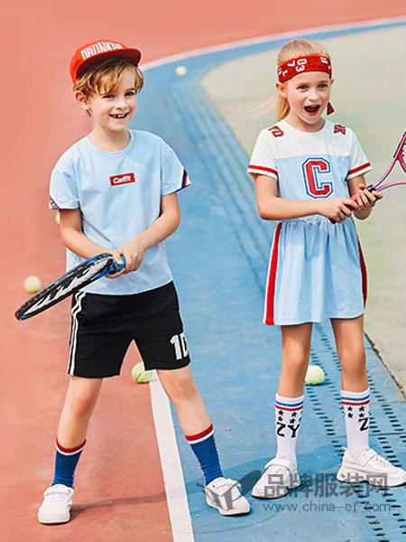 卡儿菲特童装品牌2019春夏新款印花短袖T恤中大童体恤