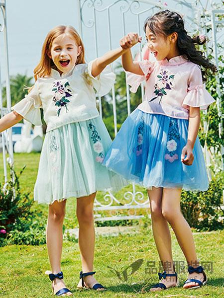 卡儿菲特童装品牌2019春夏新款韩版时尚公主裙套装