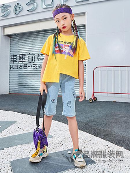 卡儿菲特童装品牌2019春夏宽松百搭韩版印花短袖t恤