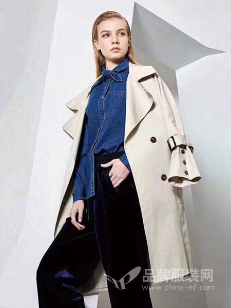 佳美优品女装品牌2019春季新款时尚蝙蝠袖宽松款风衣