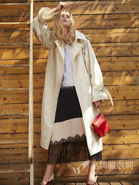 东哲女装品牌2019春季新款装韩版舒适风衣中长款大衣外套