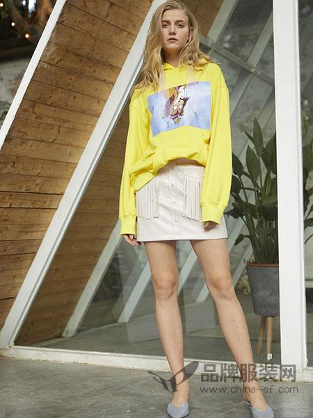 东哲女装品牌2019春季新款欧美风时尚个性潮流半身裙