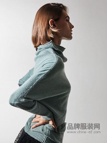 莫乂/MR&Er女装品牌韩版宽松高领百搭套头纯色针织羊毛衫潮