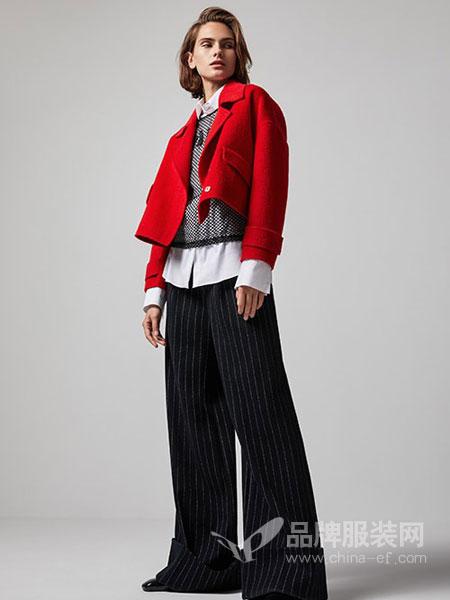 莫乂/MR&Er女装品牌时尚百搭短喇叭袖拼接外套