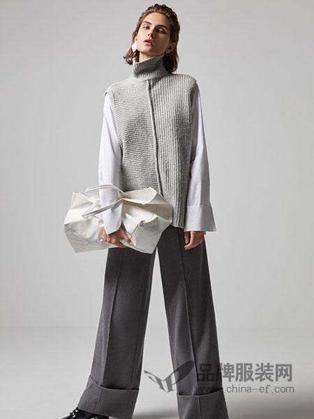 莫乂/MR&Er女装品牌新款针织衫马甲学院风休闲宽松上衣