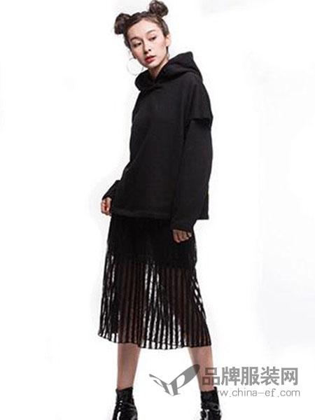 其余女装品牌2019春季新款韩版显瘦连帽时尚休闲两件套