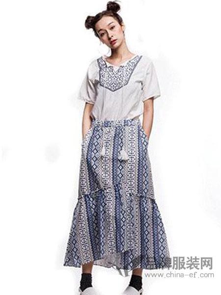 其余女装品牌2019春季新款小清新中长款两件套