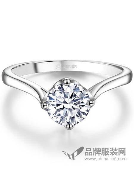 Derier蒂爵珠宝饰品品牌2019春夏钻石戒指女正品订婚戒指女钻石婚戒