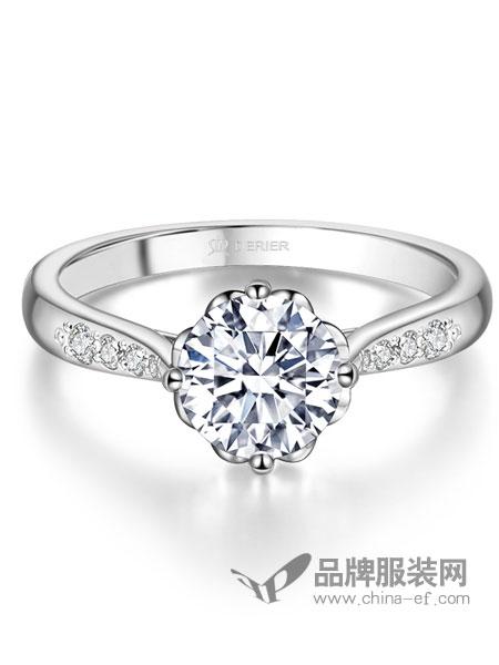 Derier蒂爵珠宝饰品品牌2019春夏订婚戒指女钻石婚戒
