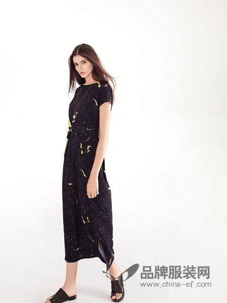 意澳女装品牌2019春夏时尚气质短袖高腰垂感阔腿裤休闲裤