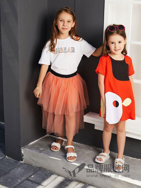 杰米熊童装品牌2019春夏短裙套装气质款休闲两件套