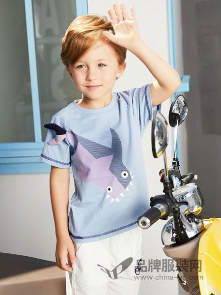 杰米熊童装品牌2019春夏洋气短袖新款纯棉T恤