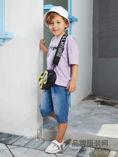 杰米熊童装品牌2019春夏新款两件套洋气男孩帅气儿童
