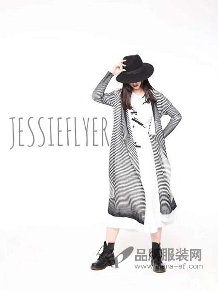 捷西非儿J.S.F.R女装品牌2019春季新款时尚休闲条纹中长款防晒外套
