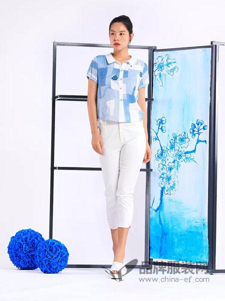 秀蓓儿女装品牌2019春夏新款薄款透气修身显瘦直筒小脚裤