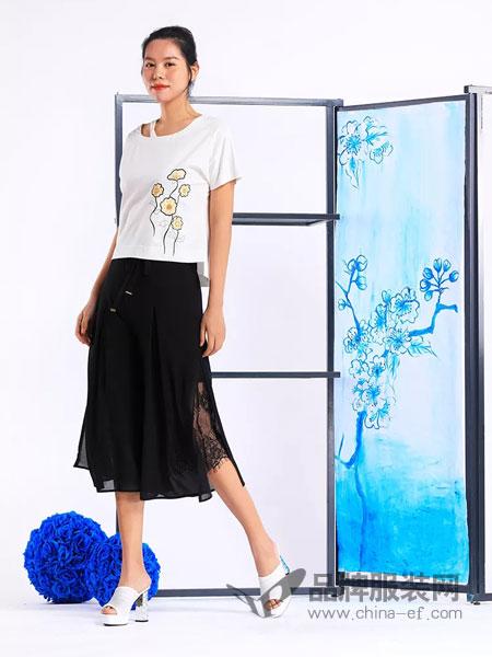 秀蓓儿女装品牌2019春夏新款蕾丝长裙中长款不规则半身裙