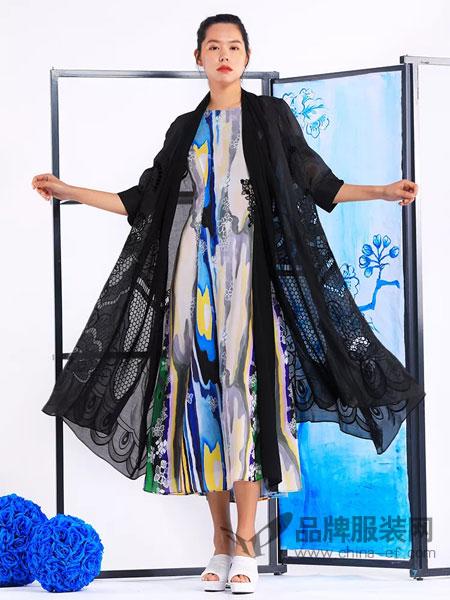 秀蓓儿女装品牌2019春夏新款宽松休闲蕾丝七分袖中长款外套薄