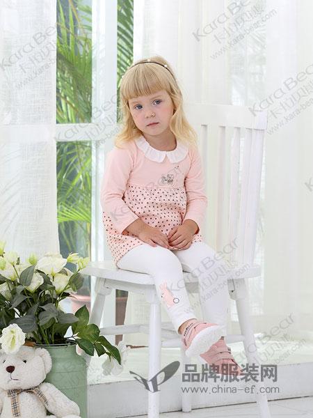 卡拉贝熊童装品牌2019春季公主裙长袖纯棉裙子A字外穿潮裙