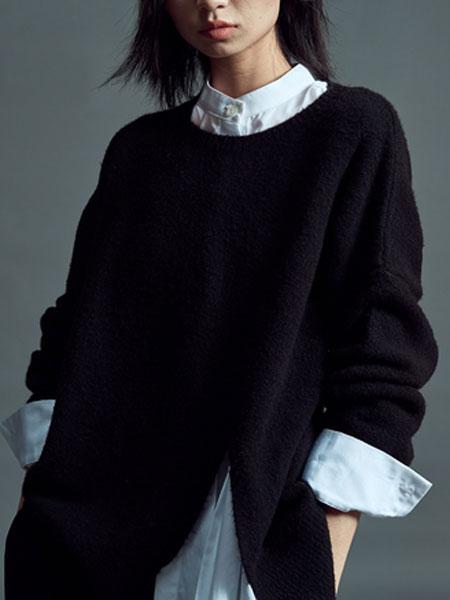 MLAU女装品牌2019春季新款韩版时尚百搭休闲针织上衣