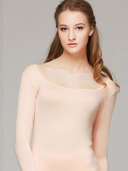 华宝莉内衣品牌2019春季新款 修身超大低领保暖内衣