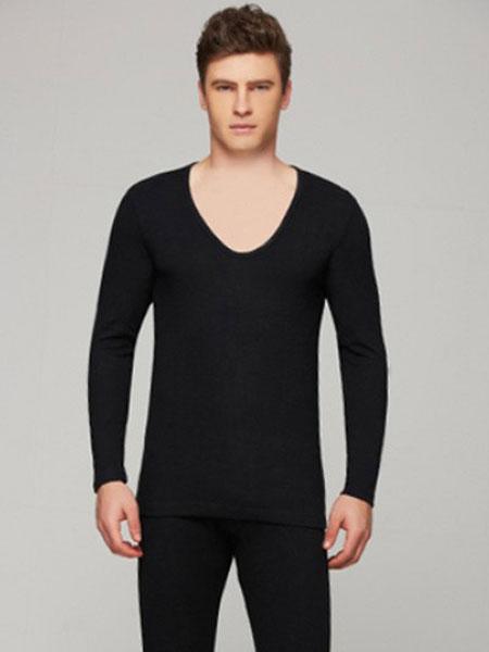 华宝莉内衣品牌2019春季新款超低大V领柔软中厚保暖内衣
