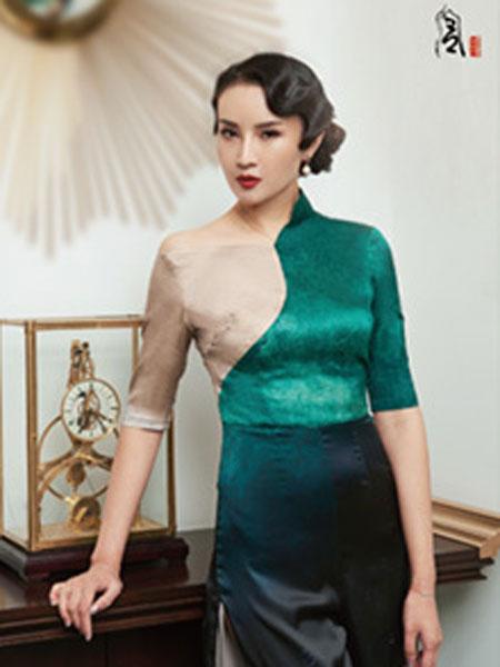 香黛宫女装品牌2019春夏新款复古改良版中长款中国风连衣裙