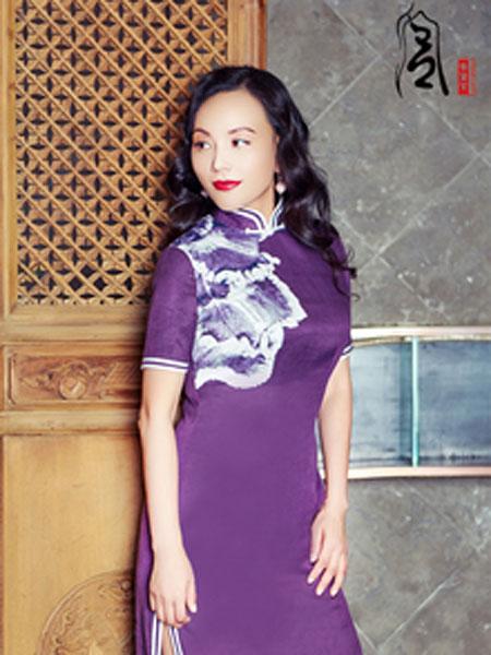 香黛宫女装品牌2019春夏新款真丝纯色中长传统复古改良旗袍裙妈妈装