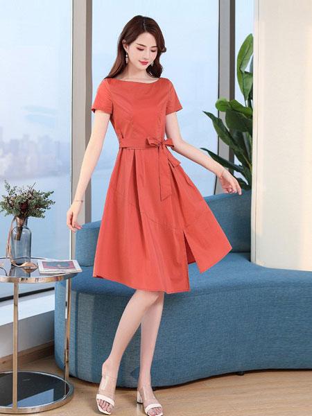 杭依阁女装品牌2019春夏新款韩版气质法式桔梗裙流行显瘦裙子