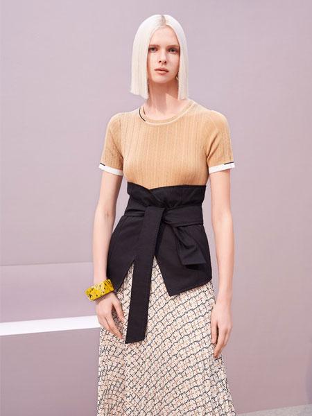 歌锦女装品牌2019春夏新款百搭显瘦气质短袖连衣裙