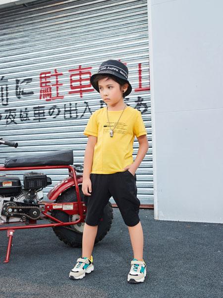 卡尔菲特童装品牌2019春夏新款中大童韩版牛仔短裤休闲短袖印花T恤两件套