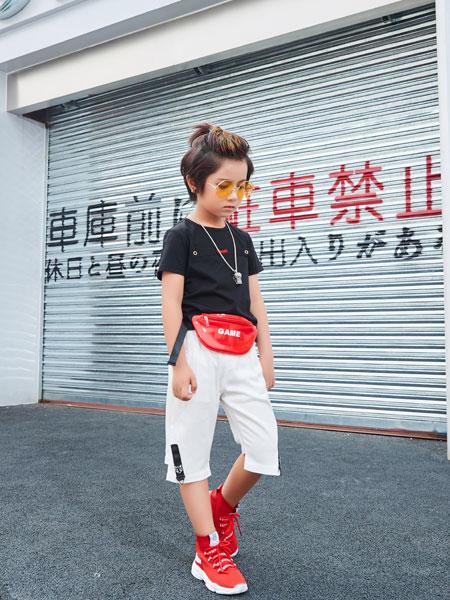 卡尔菲特童装品牌2019春夏新款韩版体恤小童洋气上衣