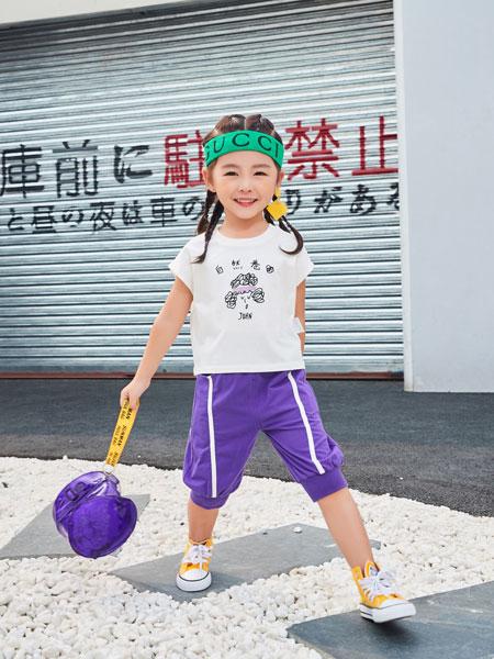 卡尔菲特童装品牌2019春夏新款韩版百搭卡通女童短袖T恤