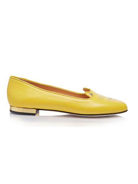 Charlotte Olympia夏洛特·奥林匹亚鞋帽/领带品牌2019春夏百搭低跟手工女单鞋