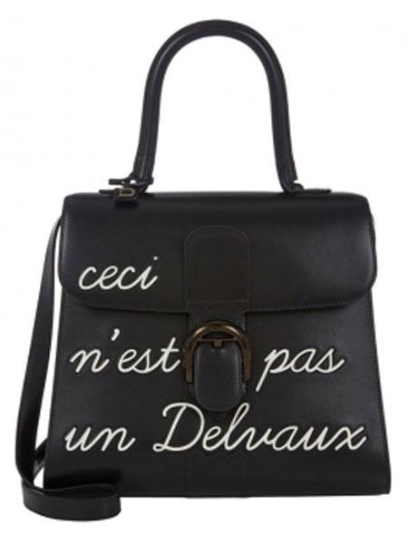 Delvaux德尔沃箱包品牌2019春夏黑色中号单肩手提包