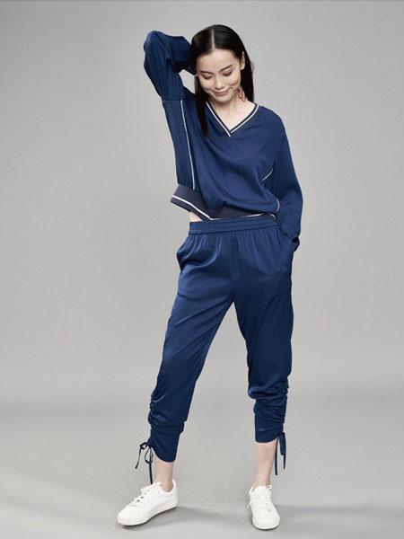 YARVE女装品牌2019春季新款长袖休闲衬衫V领收腰修身上衣