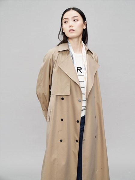 YARVE女装品牌2019春季新款女卡其色中长款流行休闲气质收腰风衣